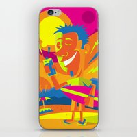 surfer iPhone & iPod Skins featuring Surfer by Roberlan Borges