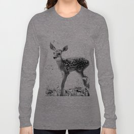 The Sweetest fawn Black & White Long Sleeve T-shirt