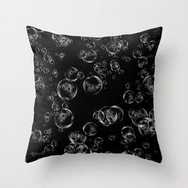 Bubbles Neck Gator Black Bubbles Throw Pillow