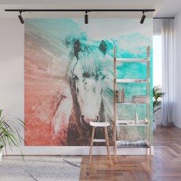 Horse Abstract Watercolor Painting Wall Mural