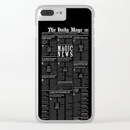 The Daily Mage Fantasy Newspaper II Clear iPhone Case