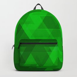 Bright green large triangles in the intersection and overlay. Backpack
