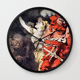 Œuvres de Rabelais illustrées par A. Robida Wall Clock