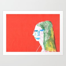 Helga in profile in full face Art Print