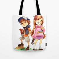 gravity falls Tote Bags featuring Gravity Falls by Archiri Usagi