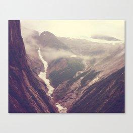 Alaska mountains - Tracy Arm Canvas Print