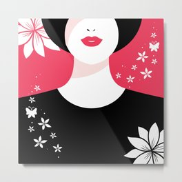 True Lady Metal Print