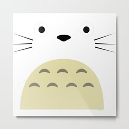 Totoroflat face 10 Metal Print