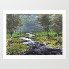 Bubbling Brook Art Print