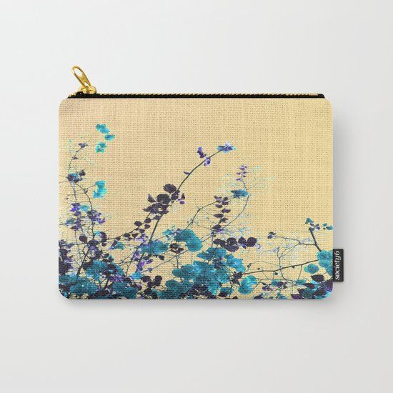 Vibrant Turquoise Blooms Carry-All Pouch