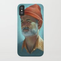zissou iPhone & iPod Cases featuring Steve Zissou by Kate O'Hara Illustration
