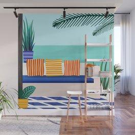 Tropical Villa On The Sea Wall Mural