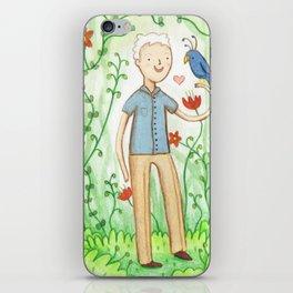 Sir David Attenborough & a Parrot iPhone Skin