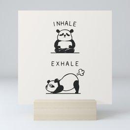 Inhale Exhale Panda Mini Art Print