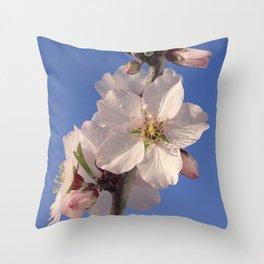 Almond blossom branch Throw Pillow