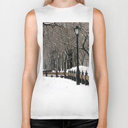 Central Park in Winter Biker Tank