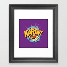 Kapow Framed Art Print