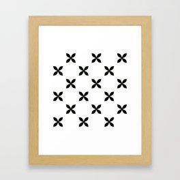 Pattern in Black and White Framed Art Print