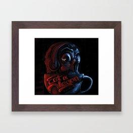 "Eat a Vegan Logo ""coffee cup"" Framed Art Print"