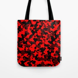 Camouflage Black and Red Tote Bag