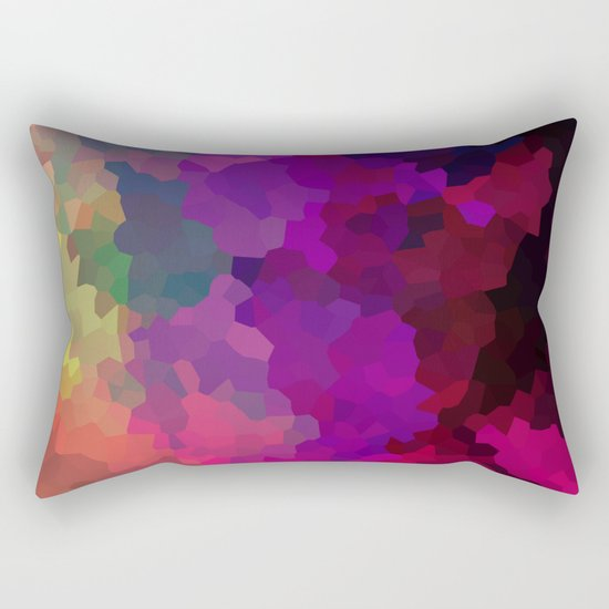 Multicolored abstract pattern . A firework of colors . Rectangular Pillow