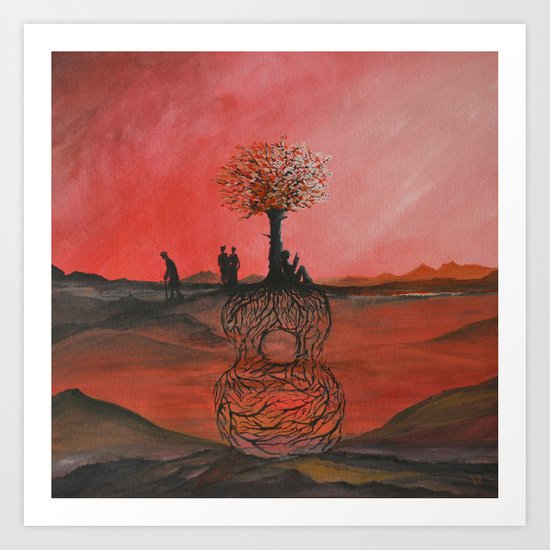 Track 3: Songs from the tree Art Print