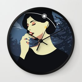 Girl Retro Style 06 Wall Clock