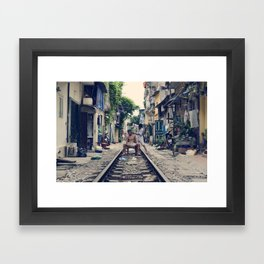 Hanoi Haircut Framed Art Print