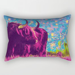 Horny (pink) Rectangular Pillow