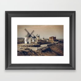 Mills of Don Quixote Framed Art Print
