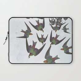 Dipping and dancing barn swallows Laptop Sleeve