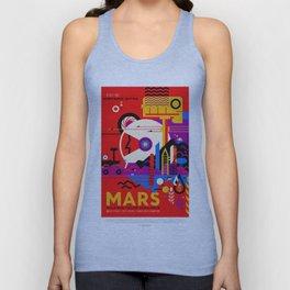 Mars - NASA Space Travel Poster (Alt) Unisex Tank Top
