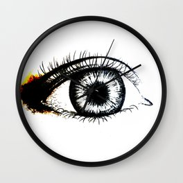 Looking In #1 - Original sketch to digital art Wall Clock