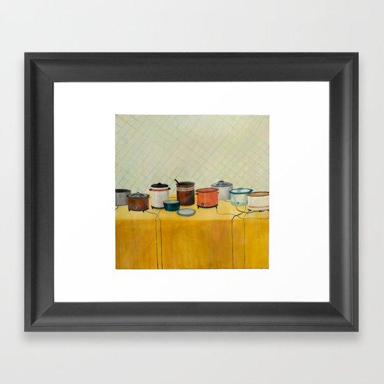 Pitch In Framed Art Print