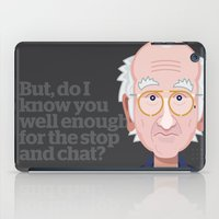 larry david iPad Cases featuring Comics of Comedy: Larry David by XK9 Works