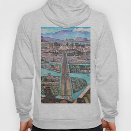 Mural of the Aztec city of Tenochtitlan by Diego Rivera Hoody