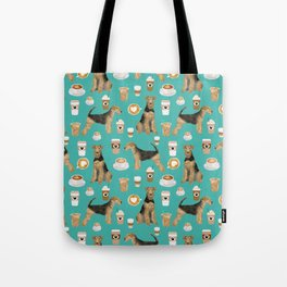 Airedale Terrier coffee print airedale terrier gifts airedale terrier phone case, pillow, home Tote Bag