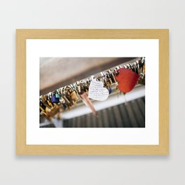 Locks Framed Art Print