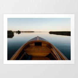 Summer Mornings On The Lake Art Print
