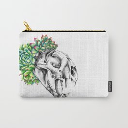 Rock Rose Cat Skull Carry-All Pouch