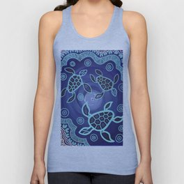 Aboriginal Art Authentic - Sea Turtles Unisex Tank Top