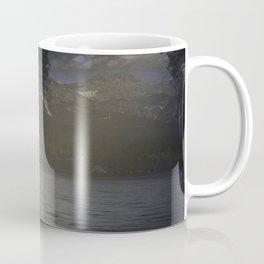 White wolf howling Coffee Mug