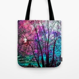 Purple teal forest Tote Bag