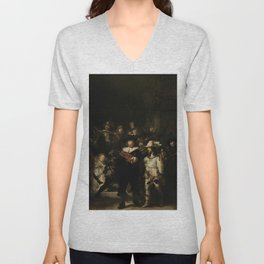 The Night Watch - Rembrandt van Rijn Unisex V-Neck