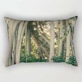Banyan Tree - Tropical Decor Rectangular Pillow