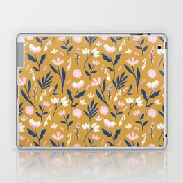 Mustard Floral Pattern Laptop & iPad Skin