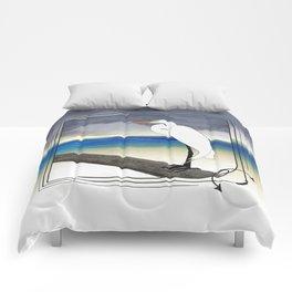 American Great Egret Comforters