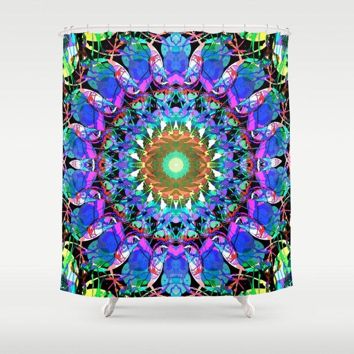 Mixed Media Mandala 3 Shower Curtain