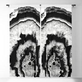 Gray Black White Agate #1 #gem #decor #art #society6 Blackout Curtain