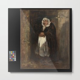 Honore Daumier - Mme Pipelet, the Concierge Metal Print